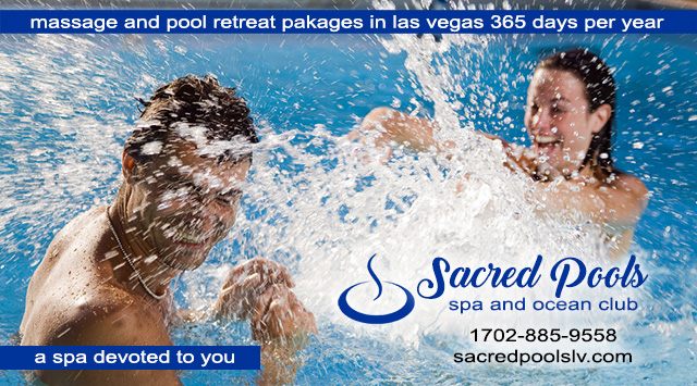 Sacred Pools SPA is the only Las Vegas Massage Spa where a couples stay together ,swim together, pamper together for the ENTIRE day